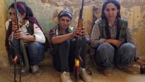 Kämpferinnen der kurdischen Frauenguerilla YPJ