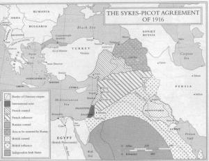 Die Aufteilung Kurdistans durch das Sykes-Picot-Abkommen