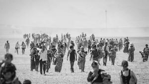 Yeziden auf der Flucht