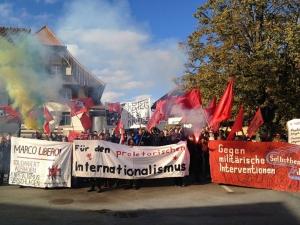 Demonstation anlässlich des 100. Jahrestages der Zimmerwalder Konferenz